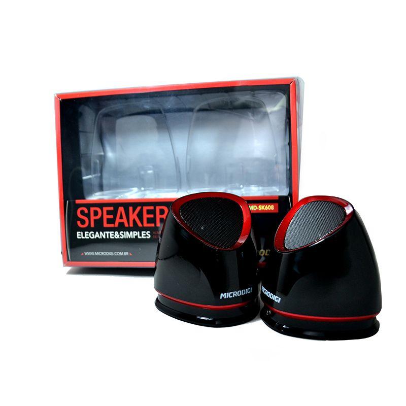 caixa de som preta com vermelho 3